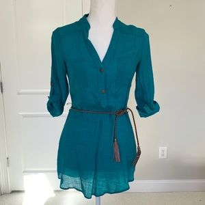 Teal Tunic with Belt